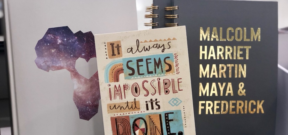 African-American greeting cards and notebooks at Target
