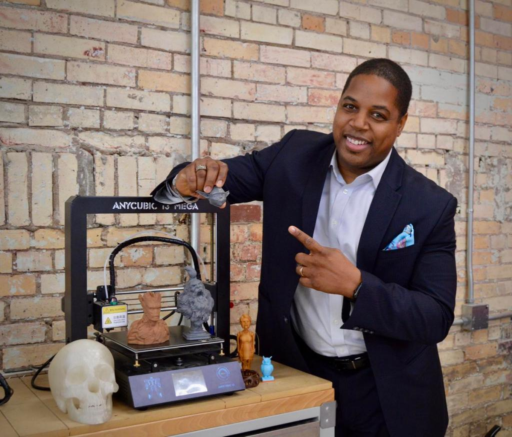 Chris Jones is executive director and lead maker at the Arkansas Regional Innovation Hub in North Little Rock. The nonprofit offers modeling services to create both 3D CAD and 3D sculpture files, which can then be 3D printed.